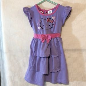 Hello Kitty Purple Dress Size 5
